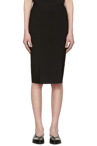 T by Alexander Wang - Black Slit Skirt