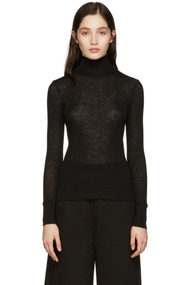 T by Alexander Wang - Black Ribbed Turtleneck