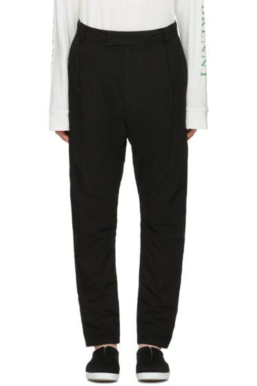 Robert Geller - Black Cotton Trousers