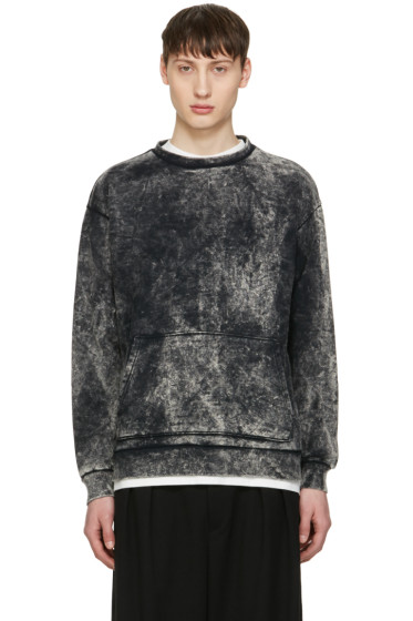 Robert Geller - Black Acid Wash Pullover