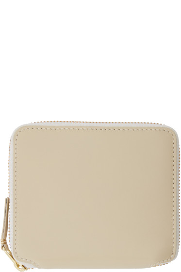 Comme des Garçons Wallets - Off-White Leather Fold Over Wallet