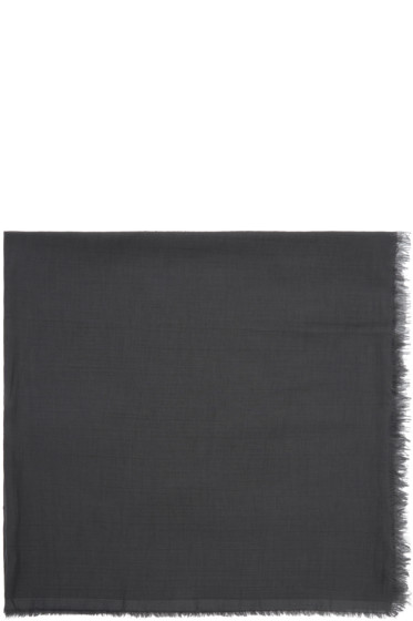 Rick Owens - Grey Cashmere & Cotton Scarf
