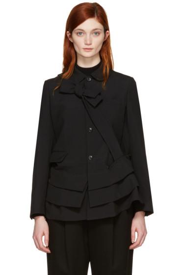 Comme des Garçons - Black Peplum Jacket