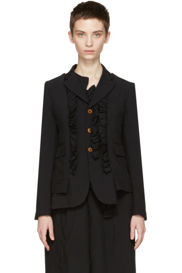 Comme des Garçons - Black Ruffle Jacket