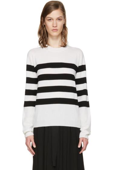 Jil Sander - White & Black Marine Sweater