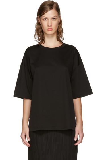 Jil Sander - Black Open Back T-Shirt