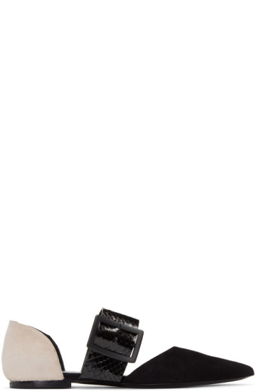 Jil Sander - Black & Pink Open Flats