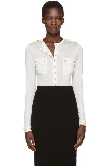Balmain - White Pockets Pullover
