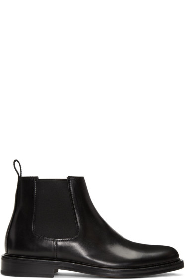 A.P.C. - Black Elastic Chelsea Boots