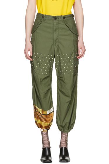 Junya Watanabe - Green Studded Trousers