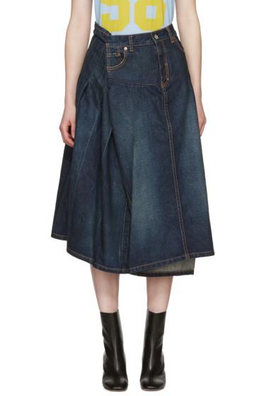 Junya Watanabe - Indigo Asymmetric Denim Skirt