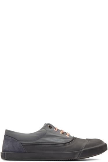 Lanvin - Grey Canvas Oxford Sneakers