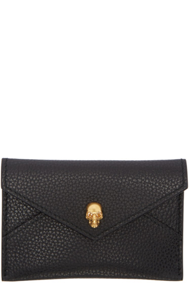 Alexander McQueen - Black Skull Envelope Card Holder