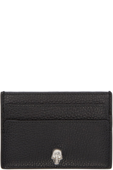Alexander McQueen - Black Leather Card Holder