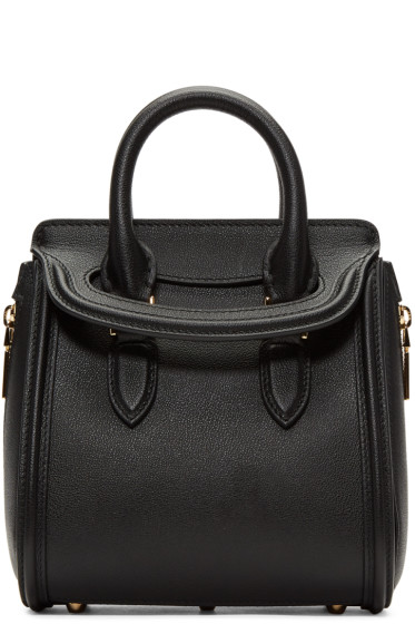 Alexander McQueen - Black Mini Heroine Bag