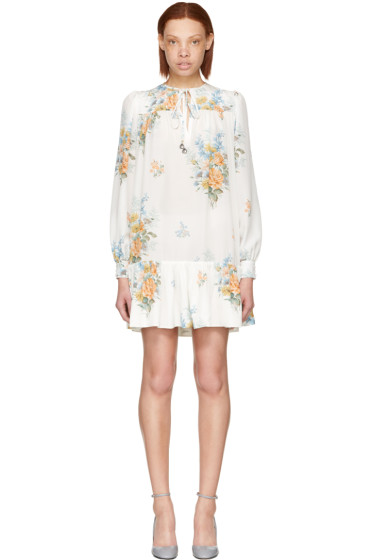 Alexander McQueen - ホワイト フローラル ドレス