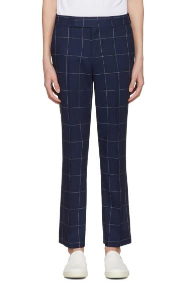 Paul Smith - Navy Windowpane Check Trousers