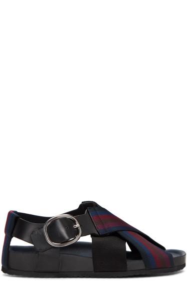 Paul Smith - Multicolor Dark Striped Ray Sandals