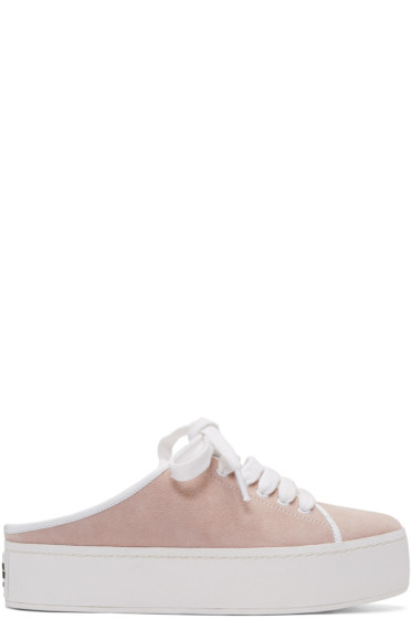 Opening Ceremony - Pink Suede Cici Lace-Up Slide Sneakers