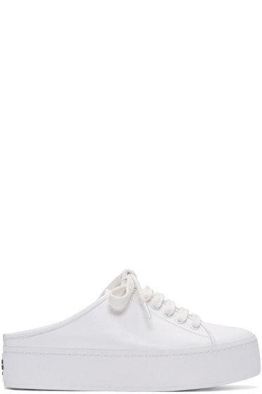Opening Ceremony - White Cici Lace-Up Slide Sneakers