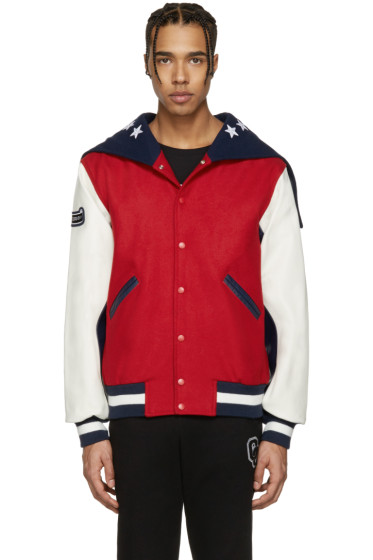 Opening Ceremony - Red USA Global Varsity Jacket