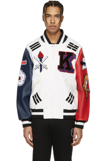 Opening Ceremony - White Korea Global Varsity Jacket