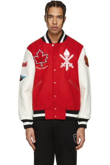 Opening Ceremony - Red Canada Global Varsity Jacket