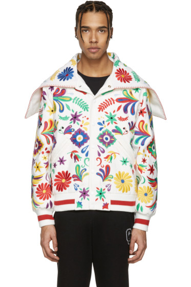 Opening Ceremony - White Mexico Global Varsity Jacket
