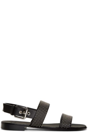 Giuseppe Zanotti - Black Studded Zak Sandals