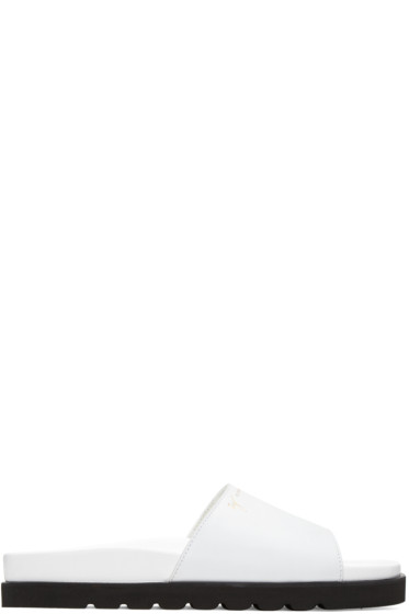 Giuseppe Zanotti - White Leather Rinko Sandals