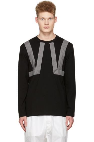 Comme des Garçons Shirt - ブラック ツイル ストラップ T シャツ