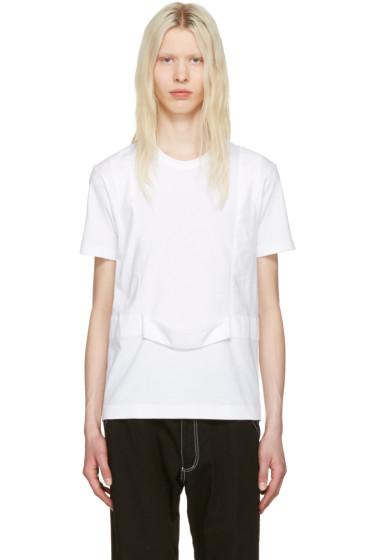 Comme des Garçons Shirt - ホワイト シングル ハーネス T シャツ
