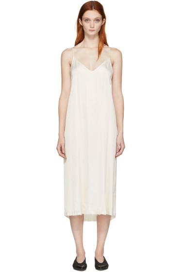 Raquel Allegra - Ivory Liquid Satin Slip Dress