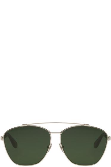 Givenchy - Silver Aviator Sunglasses