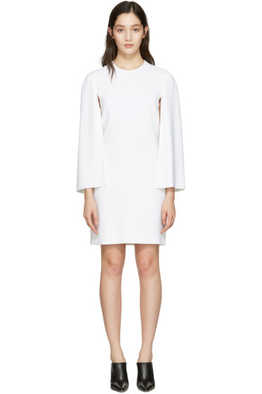Givenchy - White Cape Sleeve Dress