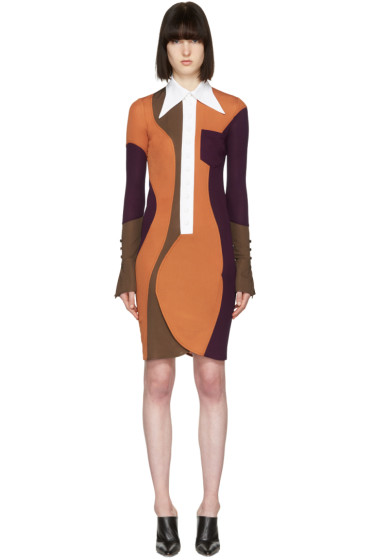 Givenchy - Multicolor Wide Collar Dress