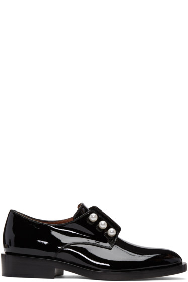 Givenchy - Black Patent Leather Pearl Derbys