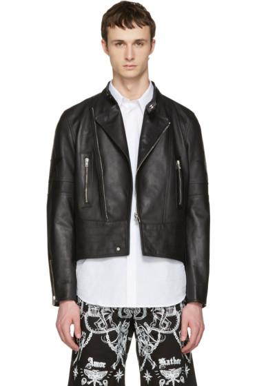 Givenchy - Black Leather Moto Jacket