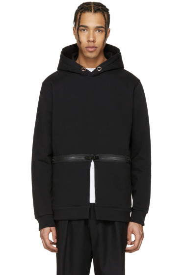 Givenchy - Black Waist Zip Hoodie