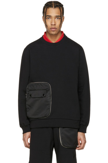 Givenchy - Black Detachable Pocket Sweatshirt