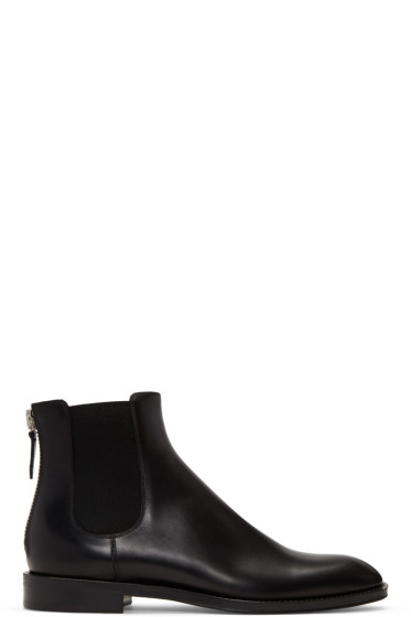 Givenchy - Black Zip Chelsea Boots