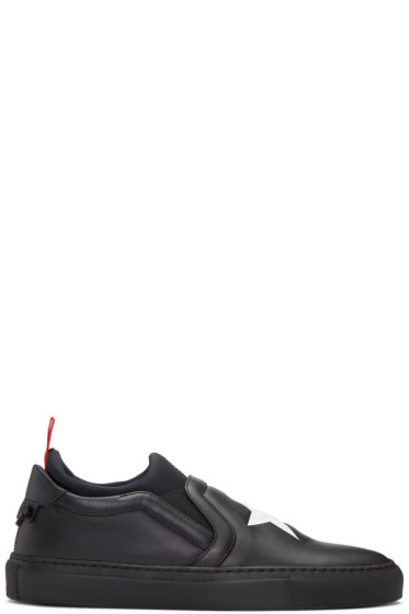Givenchy - Black Star Slip-On Sneakers