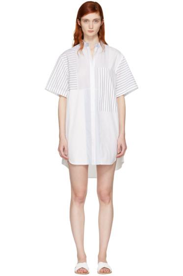 3.1 Phillip Lim - ホワイト パッチワーク シャツ ドレス