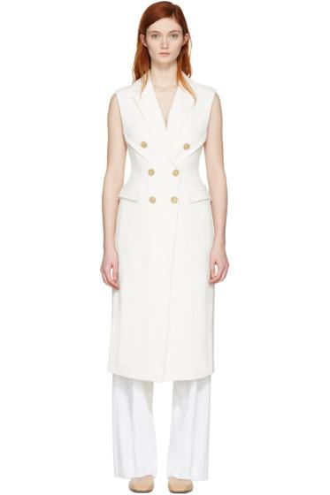3.1 Phillip Lim - White Long Sculpted Vest