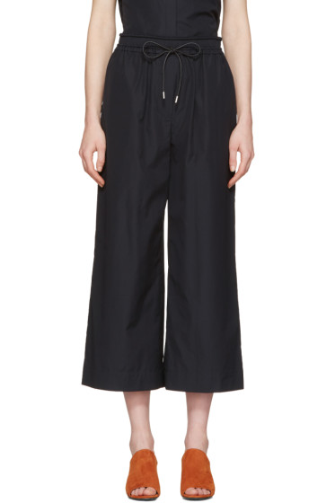 3.1 Phillip Lim - Blue Poplin Drawstring Trousers