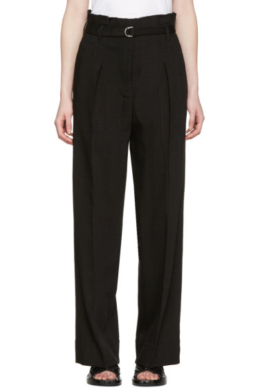 3.1 Phillip Lim - Black Paper Bag Waist Trousers