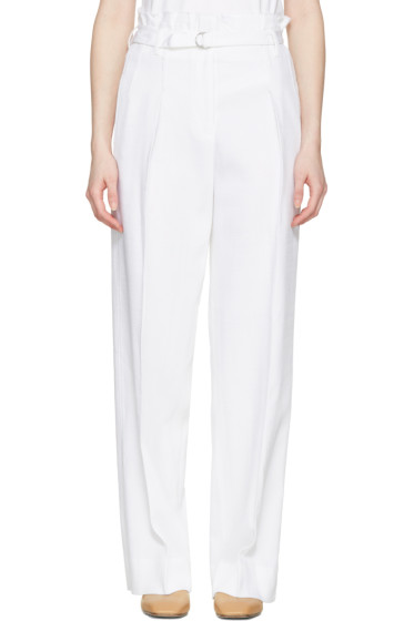 3.1 Phillip Lim - White Paper Bag Waist Trousers