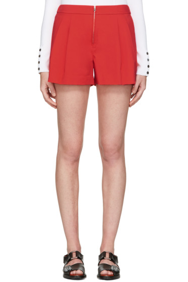 3.1 Phillip Lim - Red Twill Bloomer Shorts