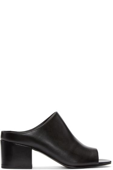 3.1 Phillip Lim - Black Cube Slip-On Sandals