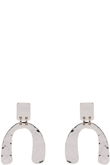Proenza Schouler - Silver Small Hammered Earrings